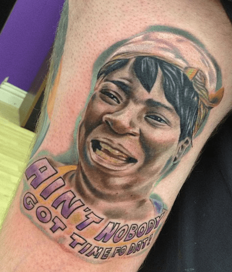 memes IRL,sweet brown,funny,g rated,Ugliest Tattoos