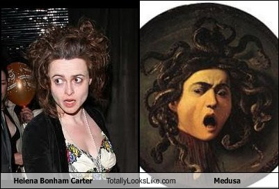 wild hair,helena bonham-carter,greek,medusa,totally looks like,tim burton,Gorgon
