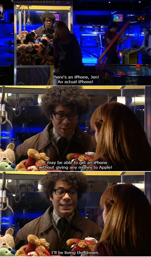 moss,the IT crowd,Richard Ayaode,apple,iphone