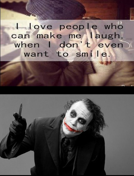 guys joker laugh batman