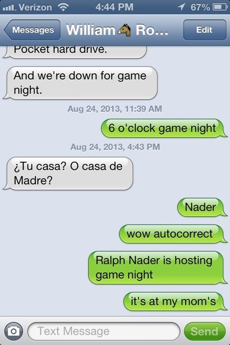 autocorrect,text,ralph nader,funny,spanish