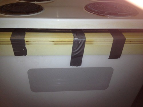 duct tape,funny,oven,there I fixed it