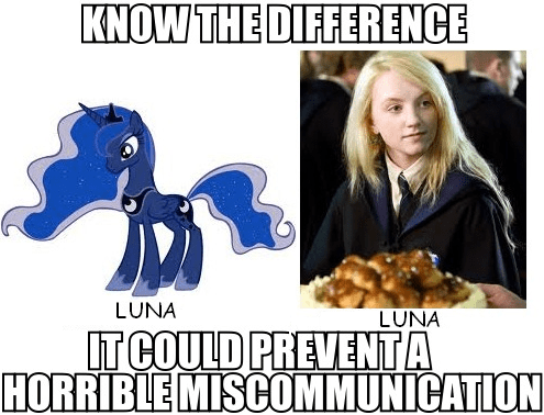 Harry Potter know the difference luna - 7763682816