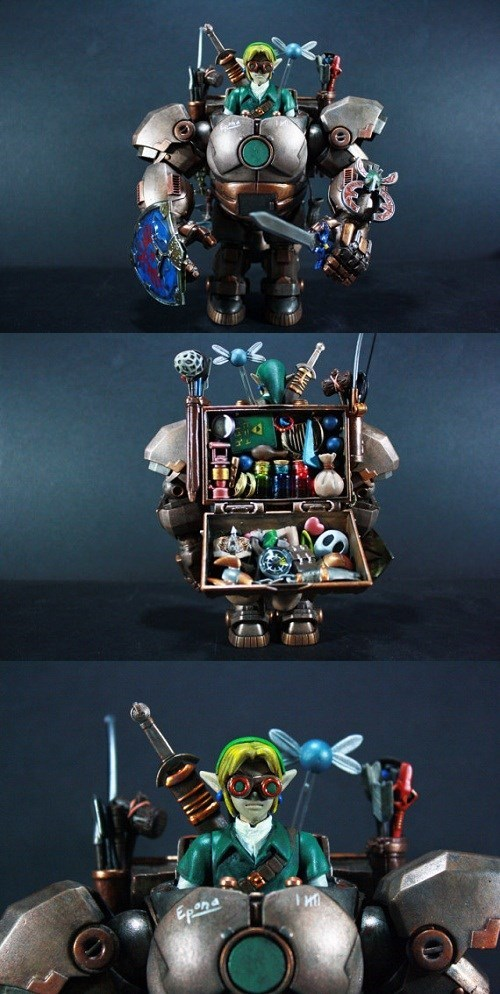 Steampunk video games zelda mechs