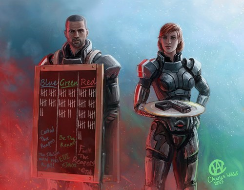 crossover,art,bioshock infinite,mass effect