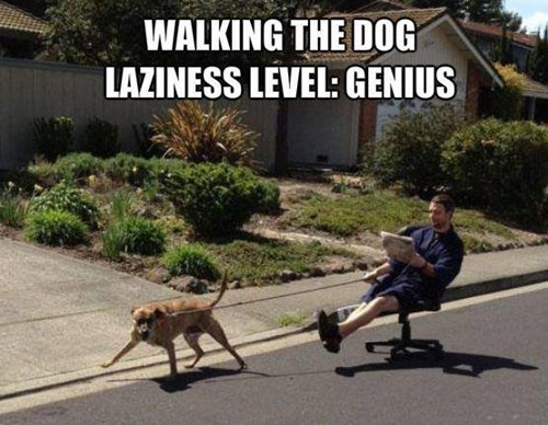lazy life hacks on a walk