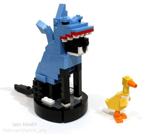 shark cat roomba lego