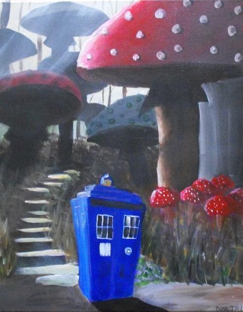 alice in wonderland,crossover,Fan Art,for sale,doctor who