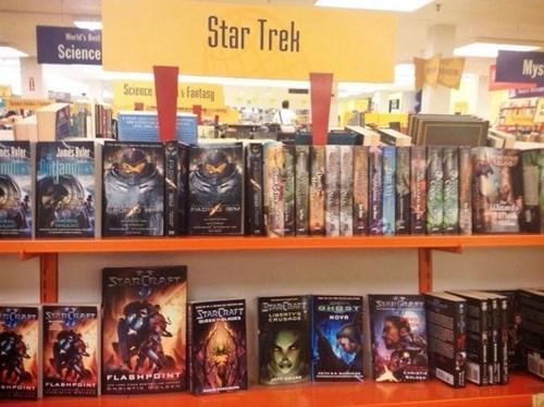 book store nerdgasm sci fi Star Trek funny - 7763986176