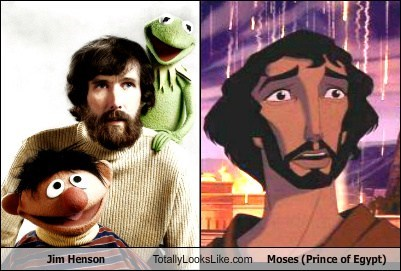 muppets,moses,totally looks like,Sesame Street,jim henson,prince of egypt