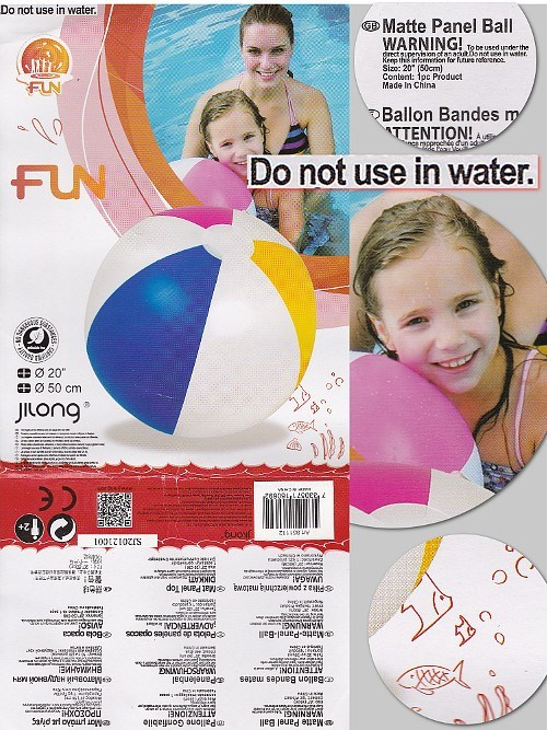 parenting beach ball warning label funny - 7764522496