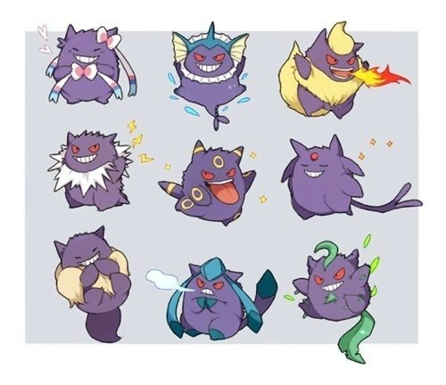 Pokémon,gengar,cute,evolutions