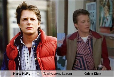 inside joke back to the future totally looks like referential calvin klein marty mcfly