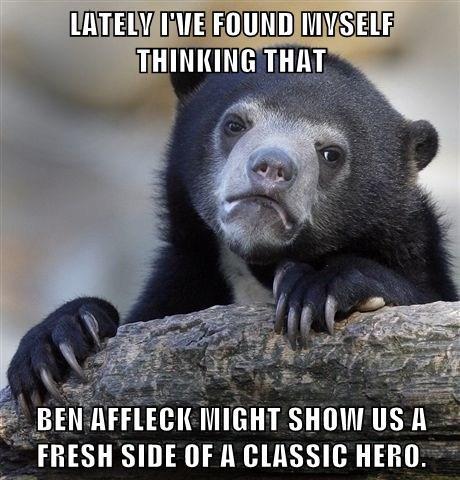 batfleck superbatman Confession Bear - 7764773632