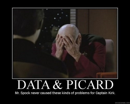 picard TNG Spock facepalm data Star Trek - 7765010176