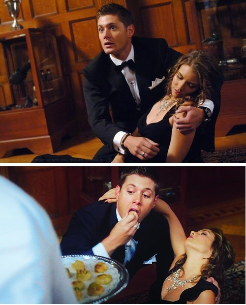 smooth,jensen ackles,Supernatural,dean winchester,food