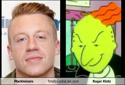 nickelodeon roger klotz Macklemore totally looks like doug - 7765062400