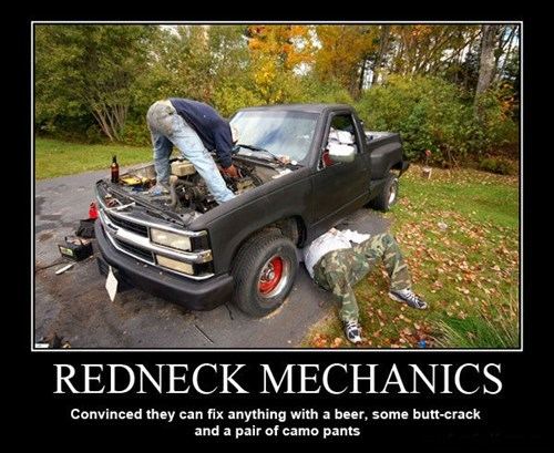 redneck mechanic funny - 7765307136