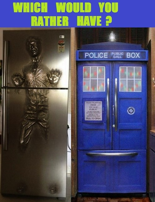 poll,refrigerators,star wars,doctor who