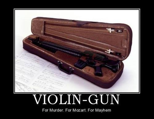 wtf gun violin funny - 7765440512
