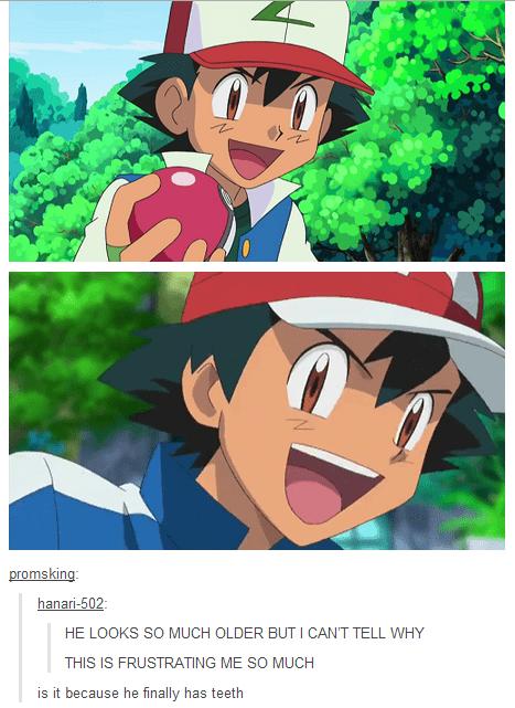 ash Pokémon anime teeth - 7765462528