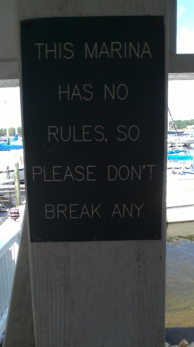 rules sign marina beach funny - 7765608704
