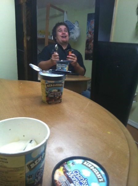 forever alone date bae caught me sleepin ice cream funny - 7765665280