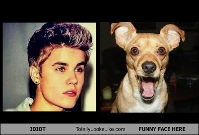 IDIOT Totally Looks Like FUNNY FACE HERE