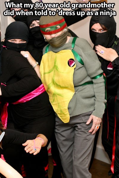 ninja halloween grandma win ghoulish geeks g rated