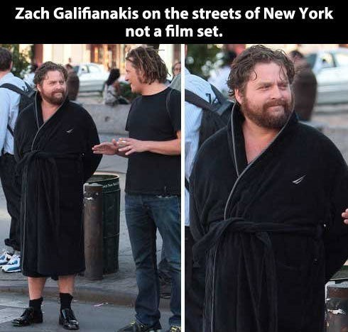 bath robe,Zach Galifianakis,couture
