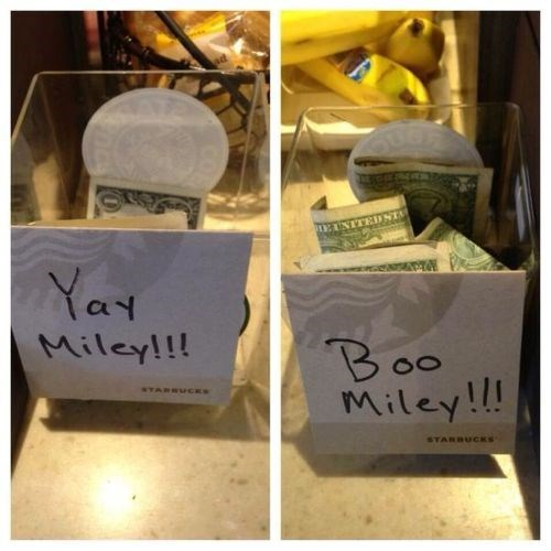 pun,Starbucks,miley cyrus