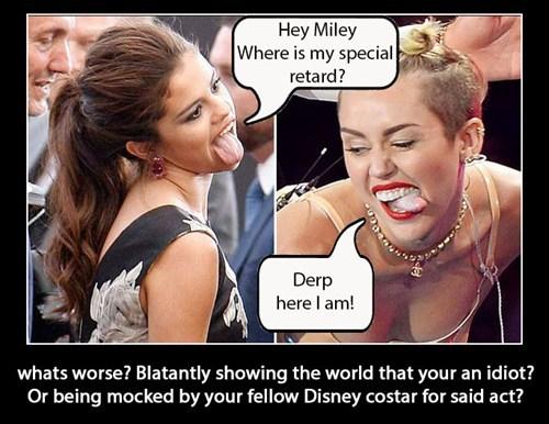 disney miley cyrus Selena Gomez funny - 7766690560