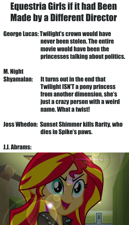 Equestria Girls as Made by Different Directors