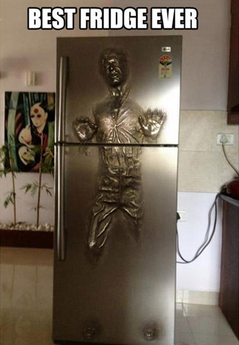 star wars,carbonite,Han Solo,fridge