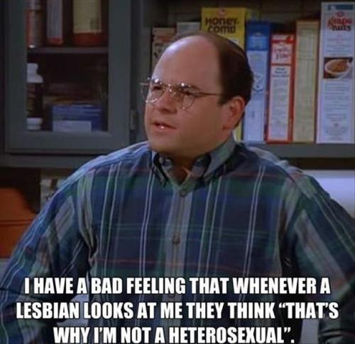 lesbian,george costanza,TV,seinfeld,jason alexander