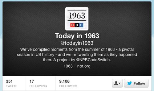 twitter,history,NPR,1963