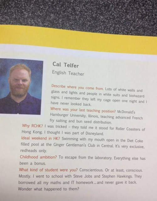 yearbook english teacher funny - 7767635712