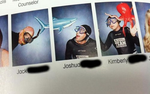 under water photos yearbooks shark funny - 7767640320