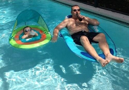 Babies pool parenting funny - 7767691520