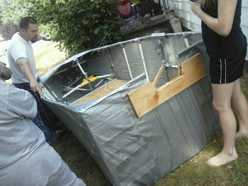 boat,duct tape,there I fixed it