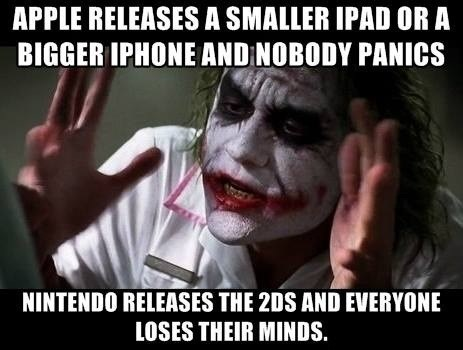 2DS,Memes,joker mind loss,apple,nintendo