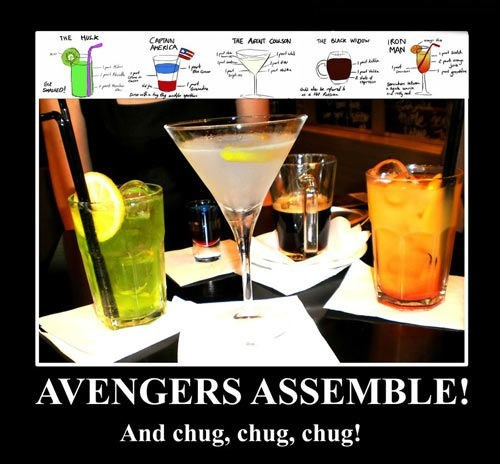 funny,cocktail,avengers