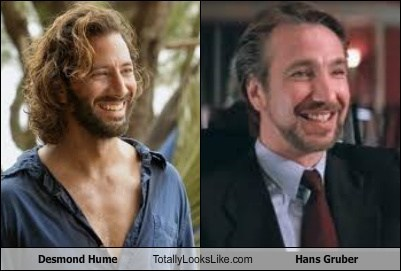 hans gruber,totally looks like,funny,desmond hume