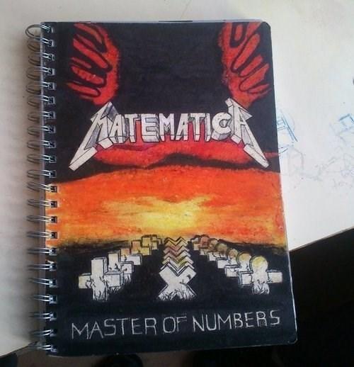 metallica notebook math funny - 7768011776