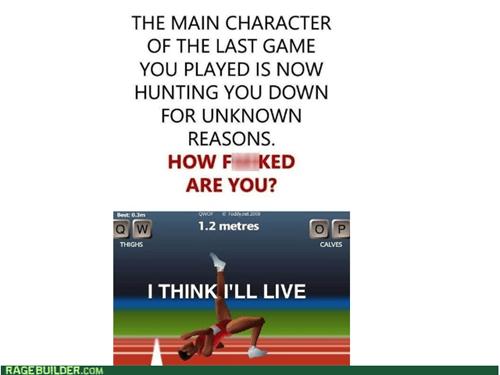 i think i'll live QWOP video games