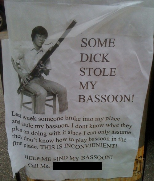 Music bassoons funny thief - 7768579840