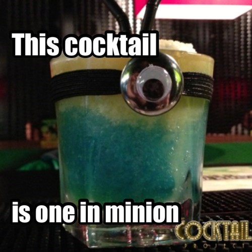 minion cute funny cocktail