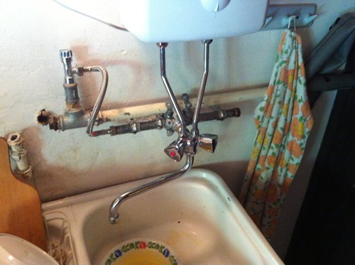 home repair plumbing pipes funny there I fixed it - 7768793856