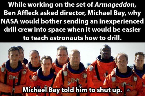 Michael Bay batfleck win or fail ben affleck Armageddon - 7768825344