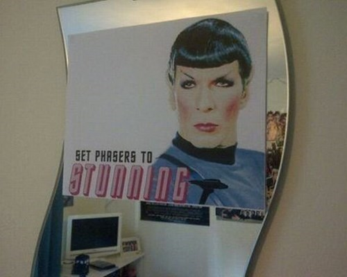 makeup TOS cheekbones Spock Star Trek - 7768907776